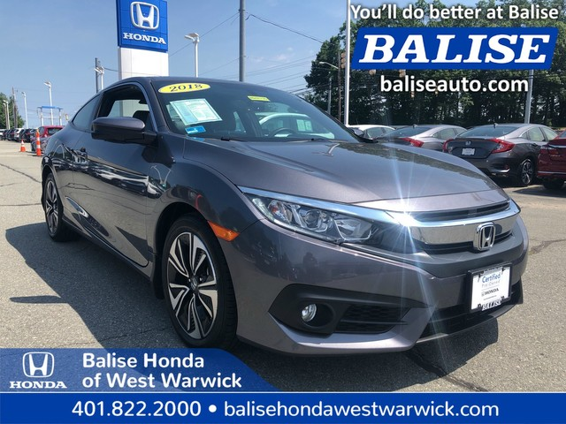 Certified Pre-Owned 2018 Honda Civic Coupe EX-L